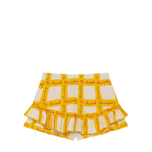 Kids shoe online The Animals Observatory skirts White shorts-skirt with yellow pattern