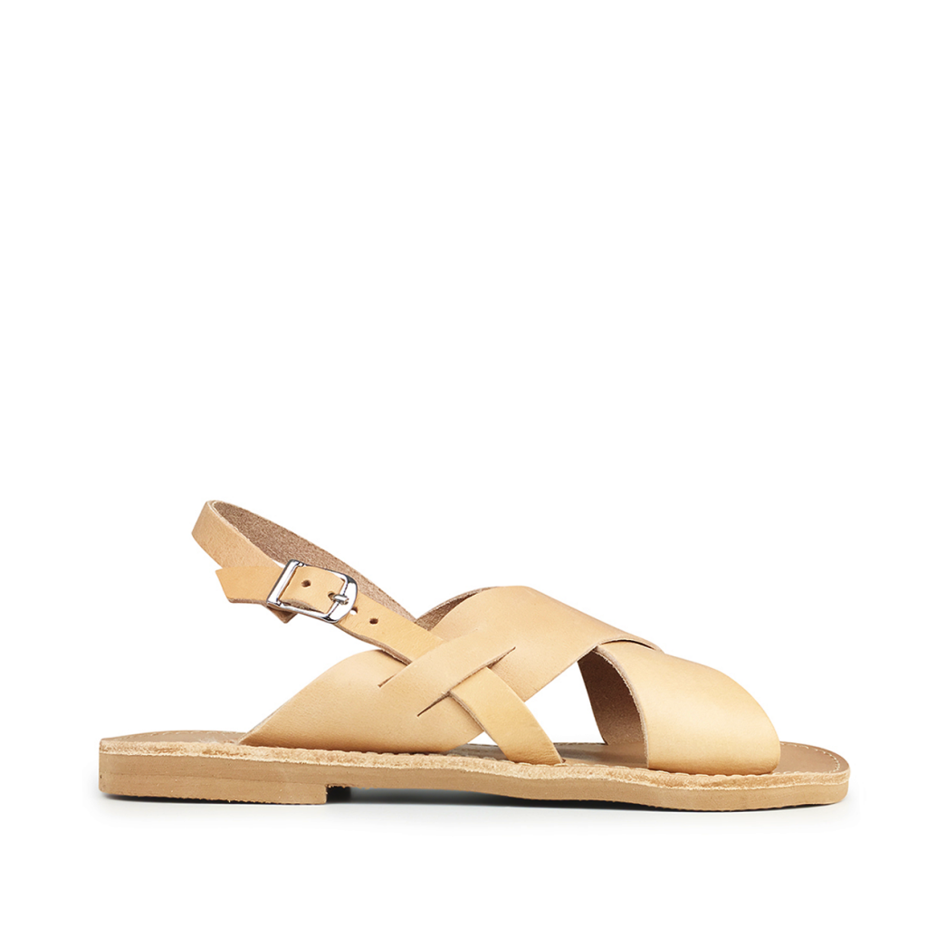 Théluto - Natural leather sandal