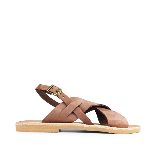 Kids shoe online Théluto sandals Beige leather slippers