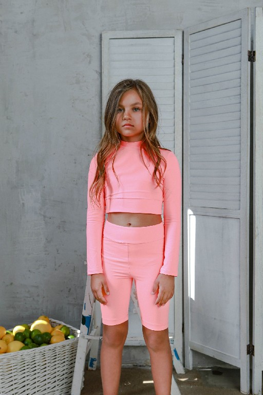 Unlabel tops Neon pink crop top