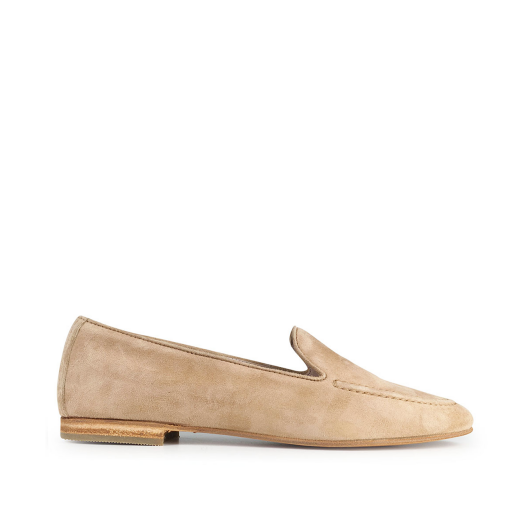 Kids shoe online Gallucci loafers Beige suede loafer