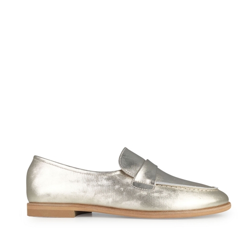 Kids shoe online Beberlis loafers Champagne colour loafers