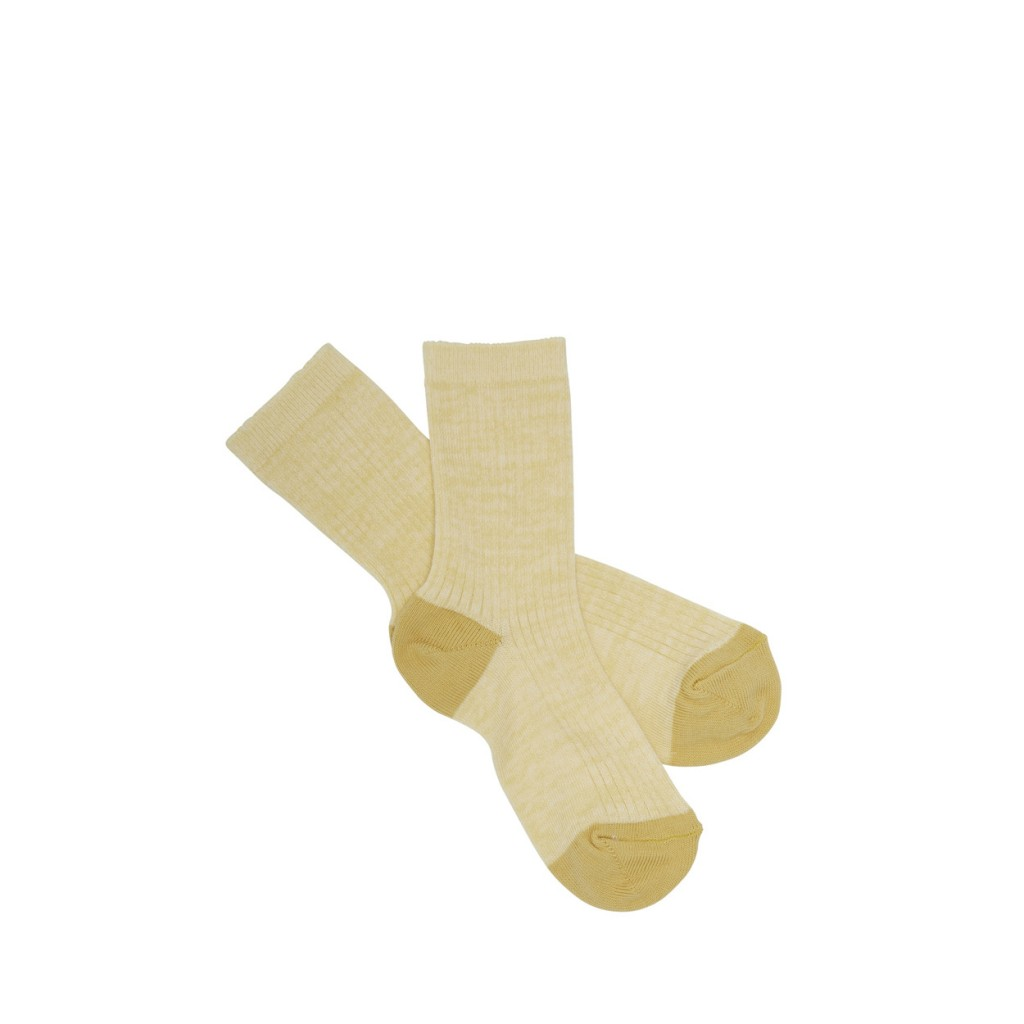 FUB - Yellow ribbed socks