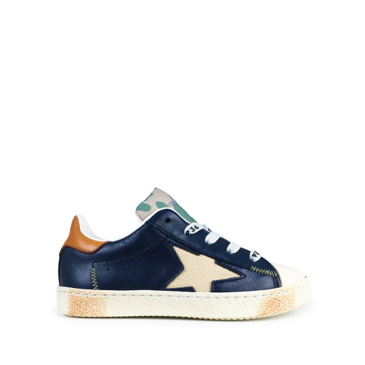 Kids shoe online Rondinella trainer Low blue sneaker with white star