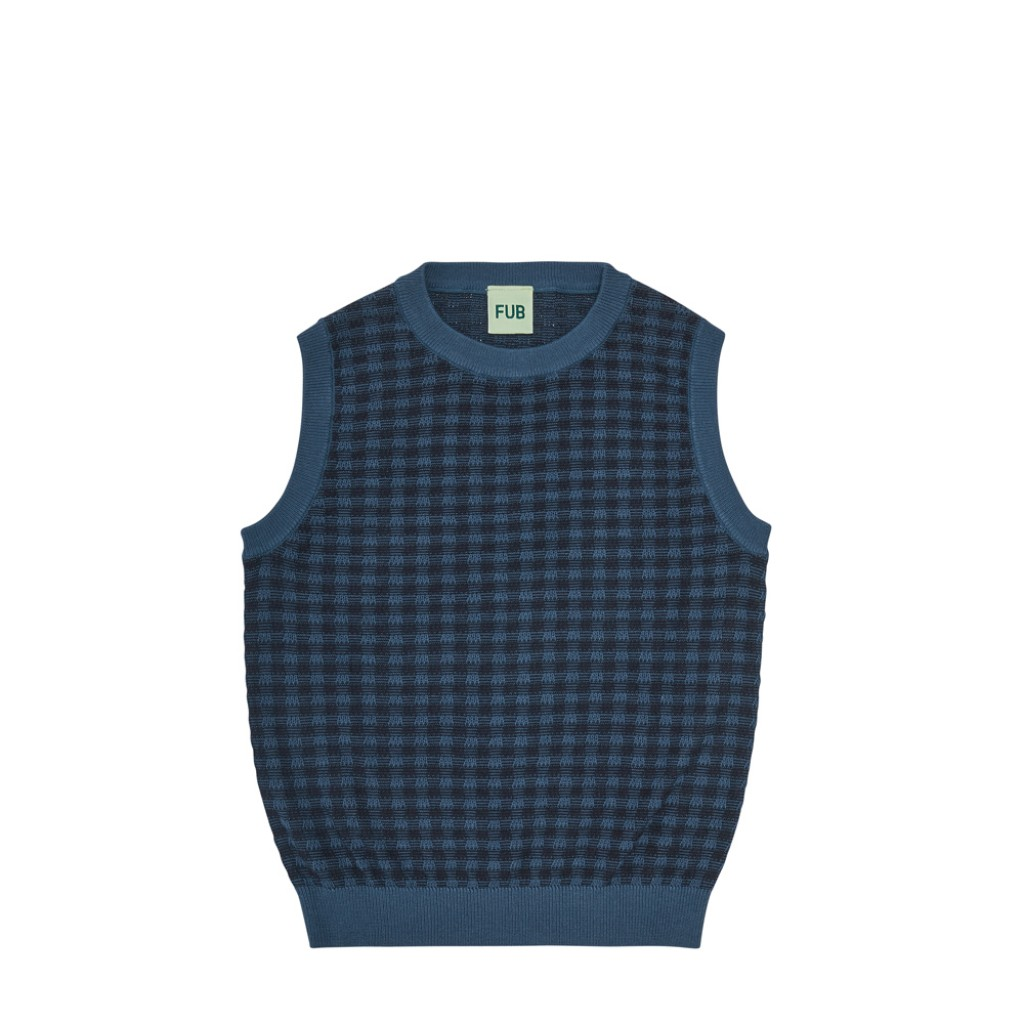 FUB - Dark blue checkered vest