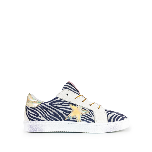 Kids shoe online Rondinella trainer Zebra sneaker with gold star