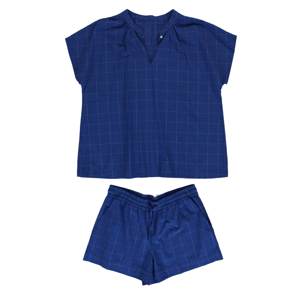 Dorélit - Blue checked pyjama's