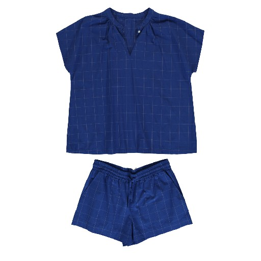 Kids shoe online Dorélit nightwear Blue checked pyjama's