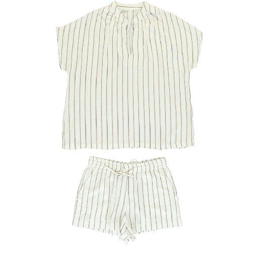 Kids shoe online Dorélit nightwear White pajamas with orange stripe
