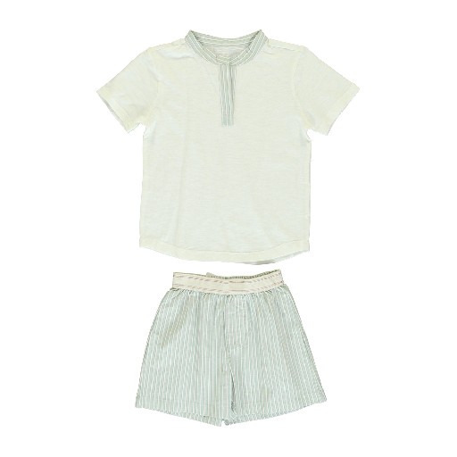 Dorélit nightwear Pyjamas with striped details and shorts