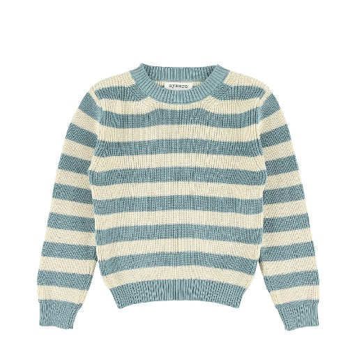 Kids shoe online Aymara jersey Blue ecru striped jumper