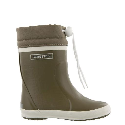 Kids shoe online Bergstein wellington boot Khaki green winter wellington boot with wool
