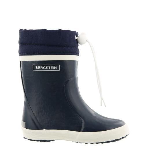 Kids shoe online Bergstein wellington boot Darkblue winter wellington boot with wool