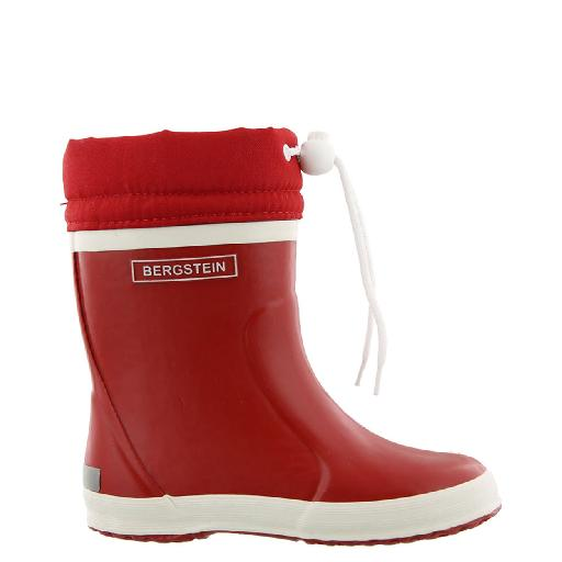 Kids shoe online Bergstein wellington boot Red winter wellington boot with wool