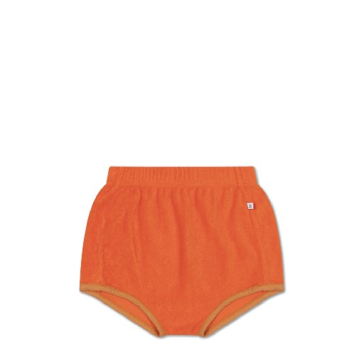 Kids shoe online Repose AMS shorts Orange terry mini shorts