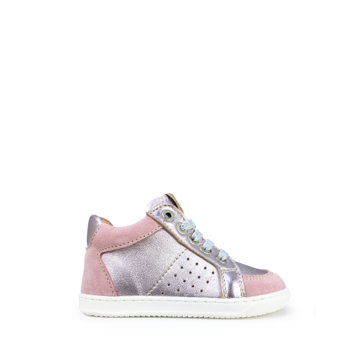 Kids shoe online Ocra trainer Semi-high pink sneaker